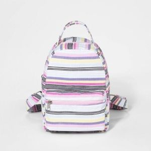 Girl's Striped canvas backpack 🎒